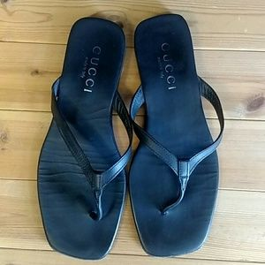 Gucci Sandals black leather Size 11D